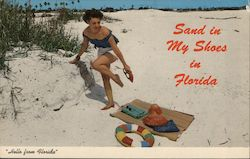 Sand in my Shoes in Florida Postcard
