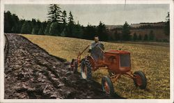 "Allis-Chalmers Model ""B"" Tractor Postcard"
