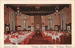 Lincoln Room Urbana Lincoln Hotel In Lincoln Square Gus H. Radbaugh Mgr.