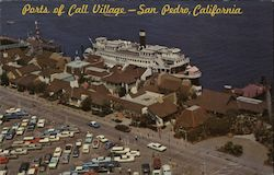 Parts of Call Village Birth 77, Los Angeles Harbor Postcard