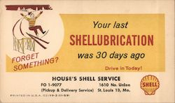 House's Shell Service Postcard
