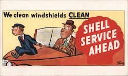 We Clean Windshields Clean Shell Service Ahead Postcard