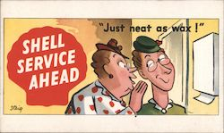 SHELL SERVICE DEALERS CARTOON POSTCARD CARTOONS COLLECTION BY STEIG Postcard