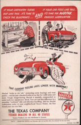 The Texas Company  Texaco Dealers In All 48 States That Cushiony Feeling Last Longer With Marfax Postcard