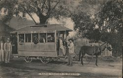 Rapid Transit in Mexico - Trolley Pulled by a Donkey Postcard