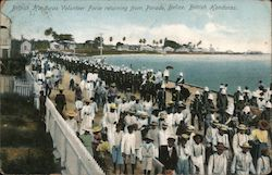 British Honduras Volunteer Force returning from Parade Postcard