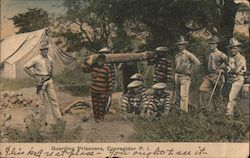 Guarding Prisoners, Corregidor Postcard