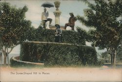 Screw-Shaped Hill in Macao Postcard
