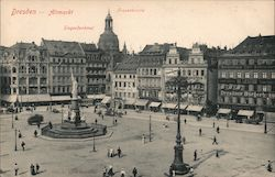 Old Market Victory Monument, Church of Our Lady Postcard