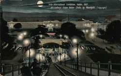Art Gallery from Water Chute by Moonlight - Irish International Exhibition, 1907 Postcard