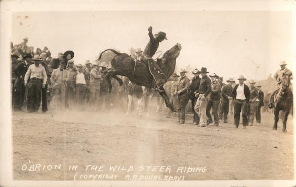 O'Brion in the Wild Steer Riding Audience Cowboy Western