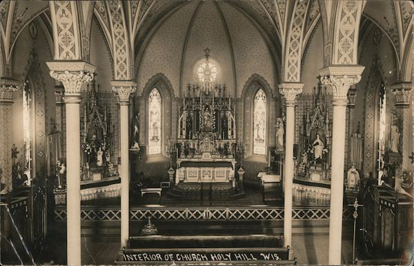 Interior of Church of Holy Hill Hubertus Wisconsin