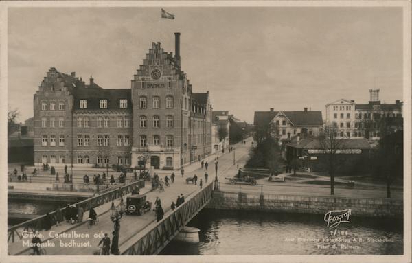 Central Bridge and Murenska Bathhouse Gävle Sweden