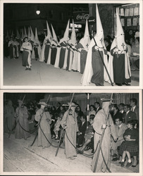 Lot of 2: Easter Holy Week Parade? Capirote Hoods Postcard