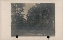 Entrance to Evergreen Cemetery Postcard