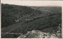 Doward Hill from Rock Postcard