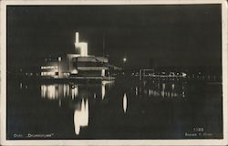 Dronningen - Royal Norwegian Yacht Club Building in Oslo Harbour Postcard