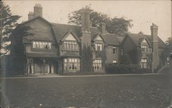 Large Manor House Postcard