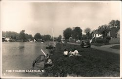 Laleham Village on the River Thames Postcard