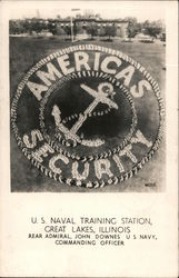 Anchor Patch - U.S. Naval Training Station Postcard