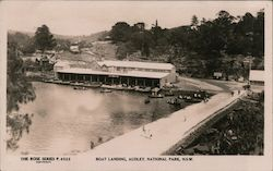 Boat Landing, Audley, New South Wales Postcard
