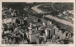 View of City From the Air Postcard