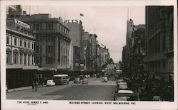 Bourke Street looking west, Melbourne, Vic Postcard