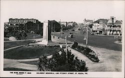 Soldiers´ Memorial and Fitzroy Street Postcard