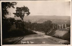 Pindale Road into Hope, Derbyshire Postcard