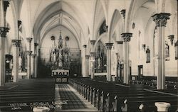 Interior Catholic Church Postcard
