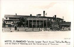 "Hotel El Rancho - ""World's Largest Ranch House"" Postcard"