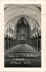 Interior - St. Anthony's Church Postcard