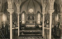 Interior of Church of Holy Hill Postcard