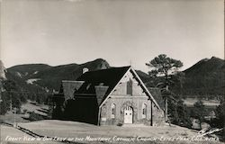 Front View of Our Lady of the Mountains Catholic Church Postcard
