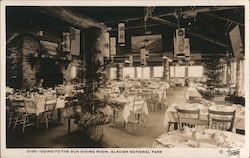 Dining Room, Going-to-the-Sun Lodge Postcard