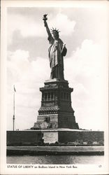 Statue of Liberty on Bedloes Island in New York Bay