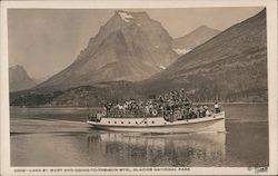 Excursion Boat on Lake St. Mary, Going-to-the-Sun Mountain Postcard