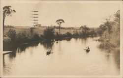 Row boats on the Messalonskee Postcard