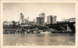 Waterfront Skyline Postcard