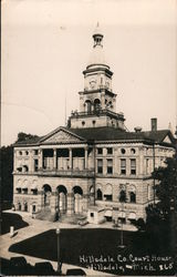 Hillsdale Co. Court House Postcard