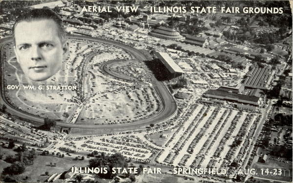 Aerial View Illinois State Fair Grounds Springfield
