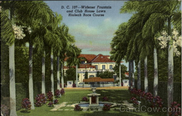 Widener Fountain And Club House Lawn Hialeah Florida