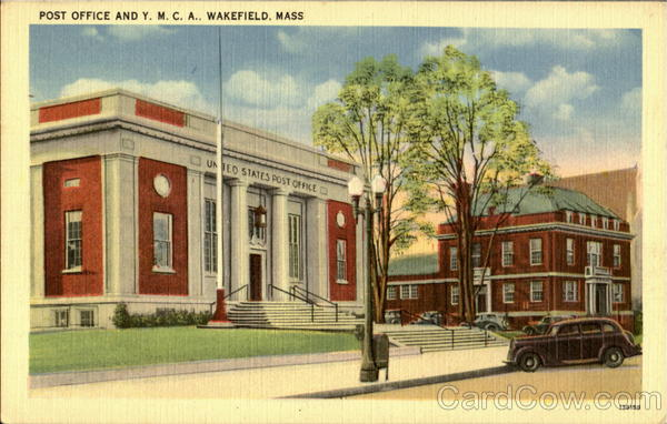 Post Office And Y.M.C.A. Wakefield Massachusetts