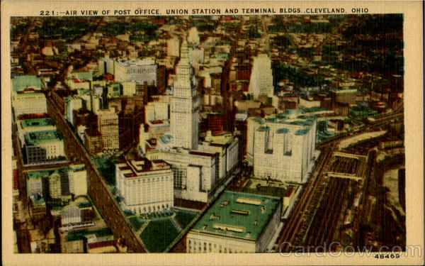 Air View Of Post Office Cleveland Ohio