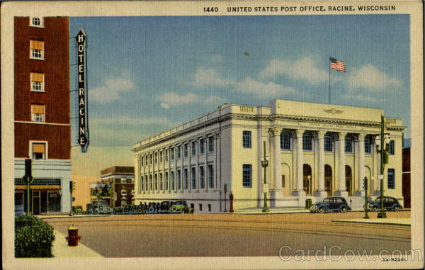Unites States Post Office Racine Wisconsin