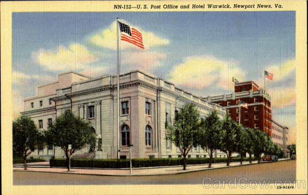 U. S. Post Office And Hotel Warwick Newport News Virginia