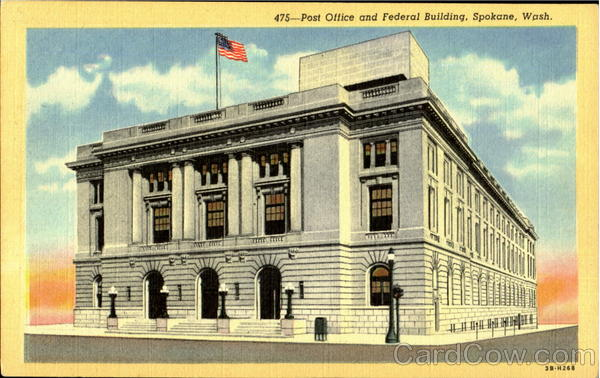 Post Office And Federal Building Spokane Washington