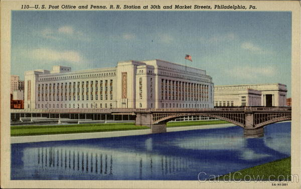 U. S. Post Office And Penna. R. R. Station, 30th and Market Streets Philadelphia Pennsylvania