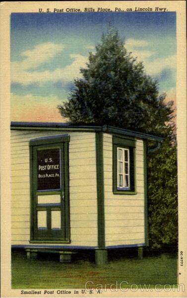 U. S. Post Office Bill's Place Pennsylvania