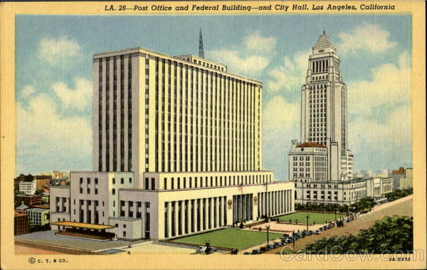 Post Office And Federal Building And City Hall Los Angeles California